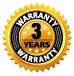 3 year warranty on transceivers and other products
